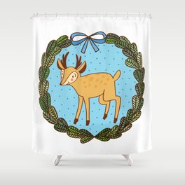 Baby deer Shower Curtain