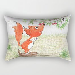 Foxy and the berries Rectangular Pillow