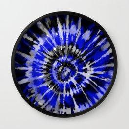Dark Blue Tie Dye Wall Clock