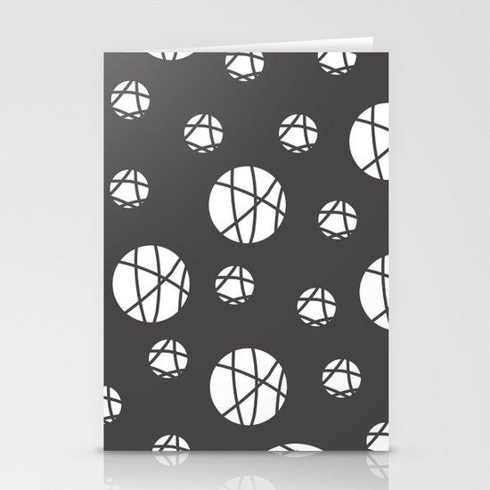 Broken Orbs (WhiteOnGray) Stationery Cards