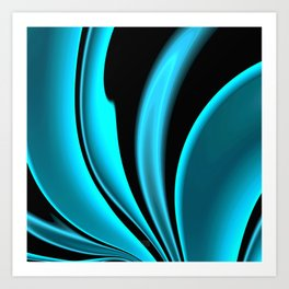 Abstract Fractal Colorways 02 Pacific Blue Art Print