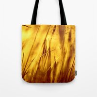 grass Tote Bags featuring Grass by Fine2art