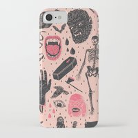 duvet iPhone & iPod Cases featuring Whole Lotta Horror by Josh Ln