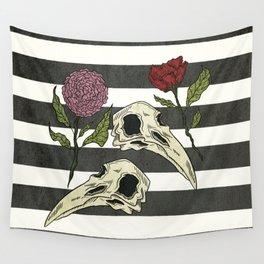 Raven Skull Wall Tapestry