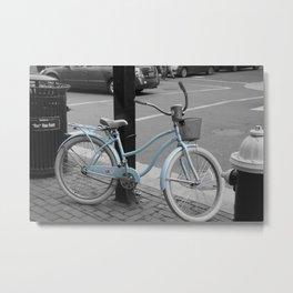 Bikeblu Metal Print