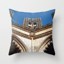 Batalha monastery, Portugal (RR 191) Analog 6x6 odak Ektar 100 Throw Pillow