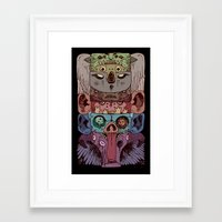 totem Framed Art Prints featuring Totem by kitsunebis