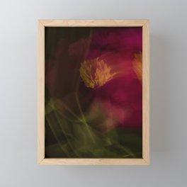 Abstract peony Framed Mini Art Print