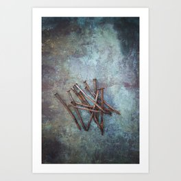 a bunch of nails Art Print