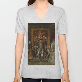 The family of Henry VIII Unisex V-Neck