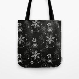 Snowflakes (White) Tote Bag