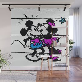Mickey and Minnie Wall Mural