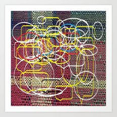 Cuadricula and geometric Art Print