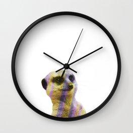 Abstract Meerkat #1 Wall Clock