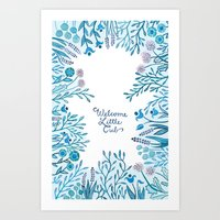 Little Cub (Blue) Art Print