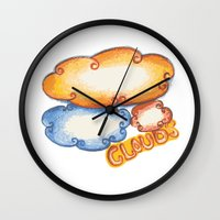 cloud Wall Clocks featuring Cloud by kartalpaf