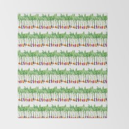 Funky Vegetables Throw Blanket