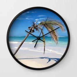 Landscape | Palm and Beach | Life's a Beach! | Nadia Bonello Wall Clock