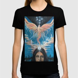 Ascension // Visionary Art Phoenix Spirit Soul Consciousness Spiritual Chakra Awakening Lightworker T-shirt