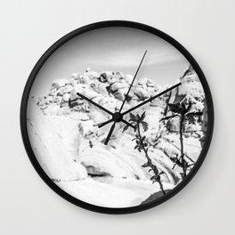 Buttermilk B/W Wall Clock