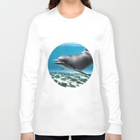dolphin Long Sleeve T-shirts featuring Dolphin by Design Windmill
