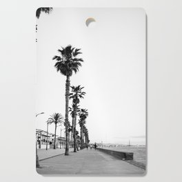 Playa de Valencia | Black and white photograph of the boulevard & beach | travel art Cutting Board