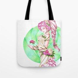 Lady Roses Tote Bag