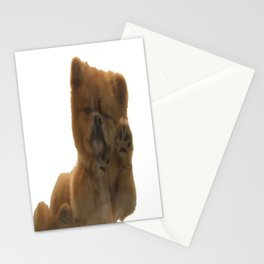 Sleepy dog Pepe Stationery Cards