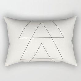 Minimal Geometric Art 03 Rectangular Pillow