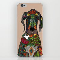 great dane iPhone & iPod Skins featuring Great Dane love beige by Sharon Turner