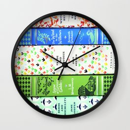 Pretty Book Stack - Part 1 Wall Clock