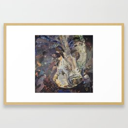 Black Bear Face Collage by C.E. White Framed Art Print