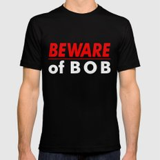Beware of BOB 2X-LARGE Black Mens Fitted Tee