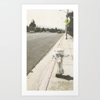 Art Print featuring streets by Eloieeseee