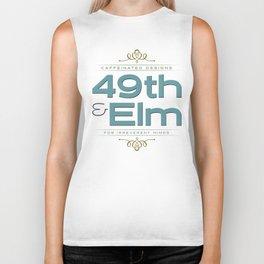 49th & Elm logo Biker Tank