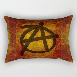 Distressed Anarchy Symbol Rectangular Pillow