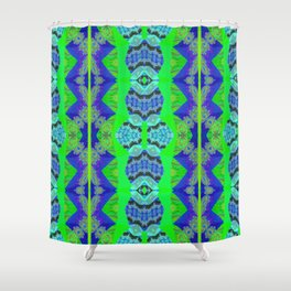 Soul Heal Color Therapy Neo Tribal Feng Shui Cooling Element Shower Curtain