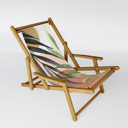 Abstract Tropical Art VI Sling Chair