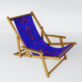 blue on red symmetry Sling Chair