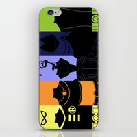 teen titans iPhone & iPod Skins featuring Vector Titans by Hybryda