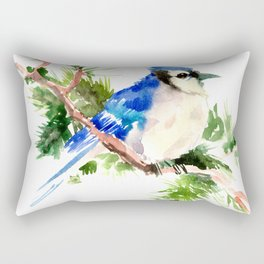 Blue Jay Christmas Rectangular Pillow