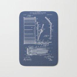 Bass Drum Vintage Patent Hand Drawing Bath Mat