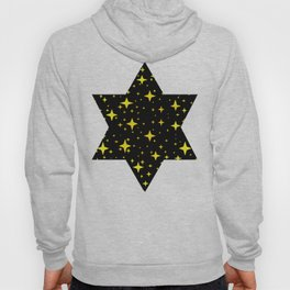 Bright Yellow Stars in Space , Cristmas Stars Hoody