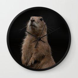 Prairie Dog Lookout Wall Clock