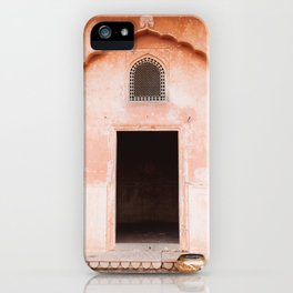 Pink Palace Door in Jaipur, Rajasthan, India | Travel Photography | iPhone Case