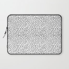 Black and White Spots Laptop Sleeve
