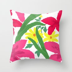Floral Chorus1  Throw Pillow