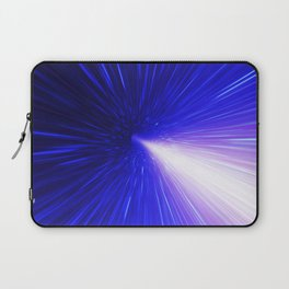 High energy particles traveling through space-time Laptop Sleeve