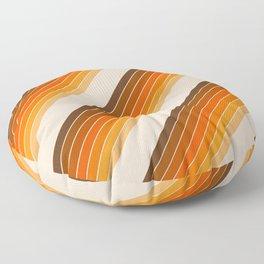 Tan Candy Stripe Floor Pillow