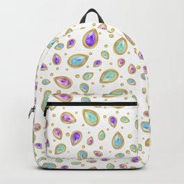 Colored diamonds (white) Backpack